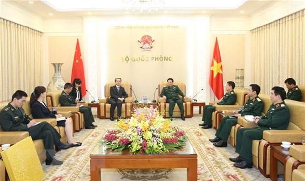 Le general Ngo Xuan Lich recoit le nouvel ambassadeur de Chine au Vietnam hinh anh 1
