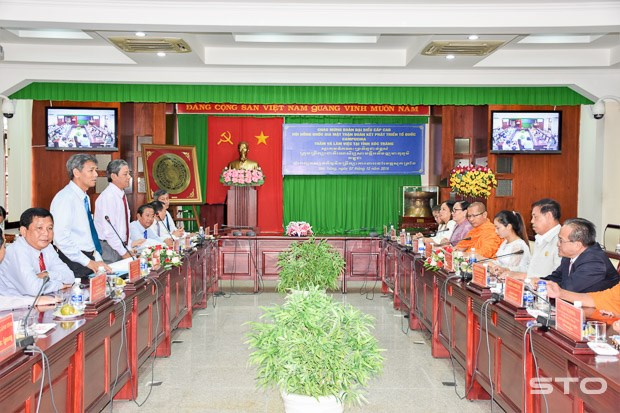 Soc Trang accueille une delegation cambodgienne hinh anh 1