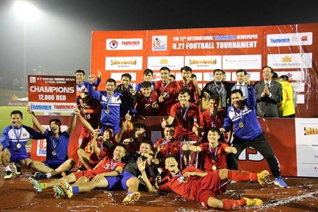 Football : U21 du Vietnam remporte le tournoi U21 du journal Thanh Nien 2018 hinh anh 1