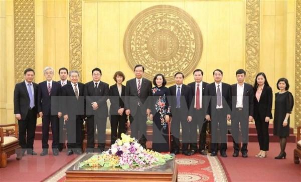 Une delegation du Parti communiste japonais en visite a Ninh Binh hinh anh 1