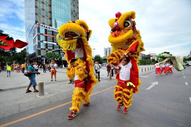 Ouverture du 2e Festival de la licorne, du lion et du dragon de Ho Chi Minh-Ville hinh anh 1