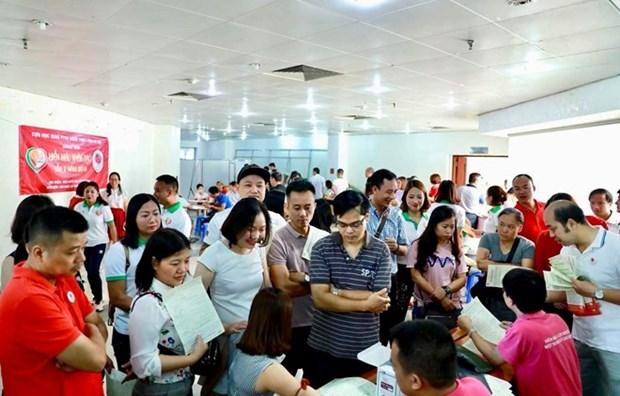 Fete du printemps rouge : plus d'un millier d'unites de sang collectees a Thanh Hoa hinh anh 1