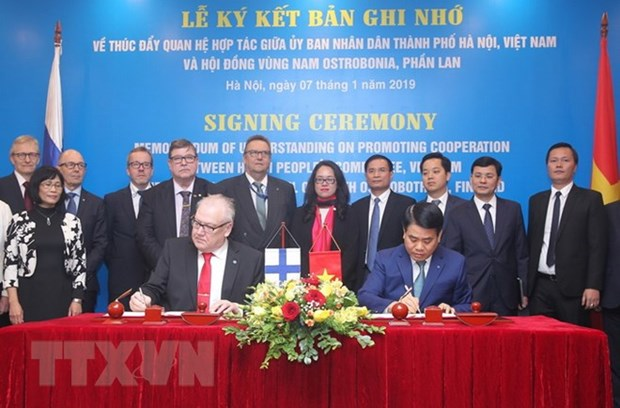 Promouvoir la cooperation entre Hanoi et les localites finlandaises hinh anh 1