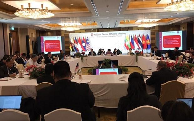 Les hauts responsables de l'ASEAN se preparent pour l'AMM restreinte hinh anh 1