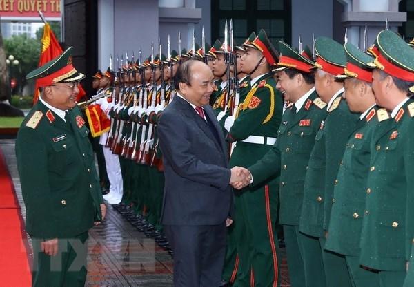 Le Premier ministre rend visite au Departement general du renseignement hinh anh 1