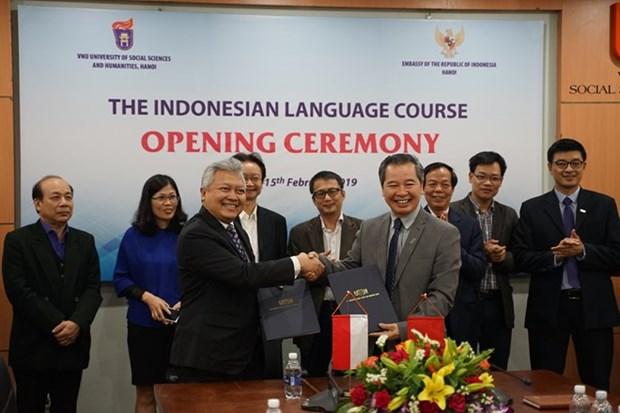 La langue indonesienne sera enseignee a l'Universite nationale de Hanoi hinh anh 1