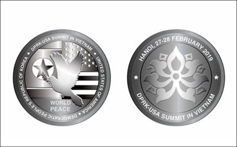 Emission de pieces d'argent en l'honneur du 2e Sommet Etats-Unis - RPDC hinh anh 1