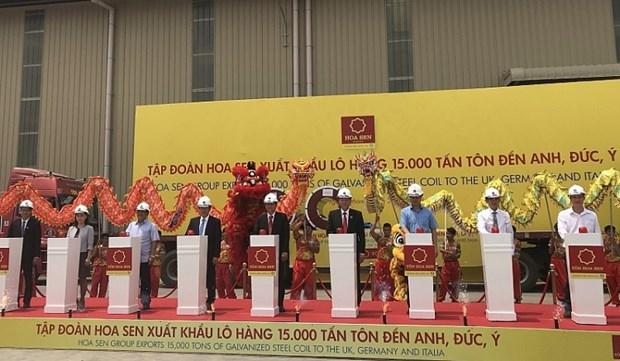 Le groupe Hoa Sen exporte 15.000 tonnes de toles vers l'Europe hinh anh 1