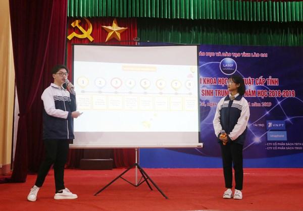 Quatre projets des eleves de Lao Cai sont choisis pour le concours Intel ISEF 2019 hinh anh 1