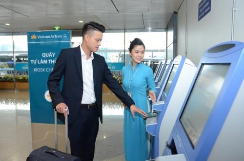 Vietnam Airlines met en place des bornes automatiques dans les aeroports etrangers hinh anh 1