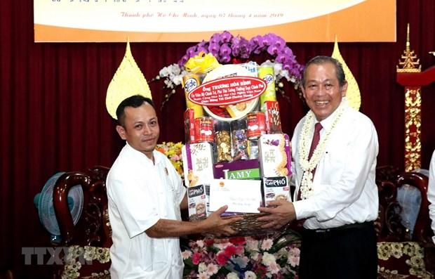 Tet Chol Chnam Thmay: un vice-Premier ministre felicite les Khmers a HCM-Ville hinh anh 1