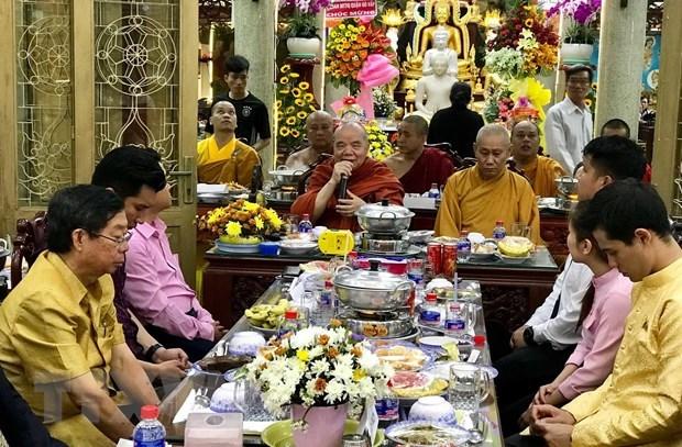 Le Nouvel An traditionnel des pays d'Asie du Sud-Est celebre a Ho Chi Minh-Ville hinh anh 1