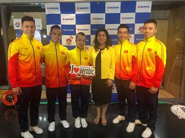 Coupe du Monde de Gymnastique Aerobic Suzuki : le Vietnam decroche trois medailles d'or hinh anh 1