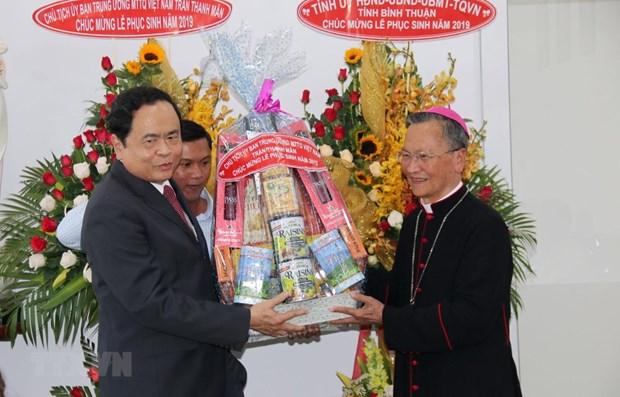 Paques : le president du FPV presente ses vœux aux catholiques de Binh Thuan hinh anh 1