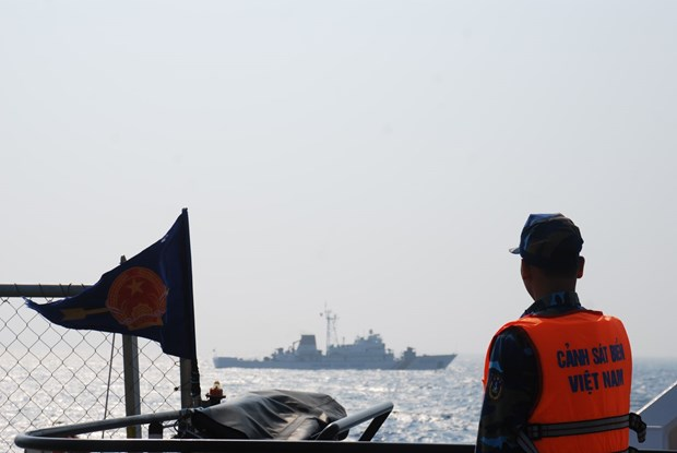 La Garde-cote vietnamienne inspecte la zone de peche commune du golfe du Bac Bo hinh anh 1