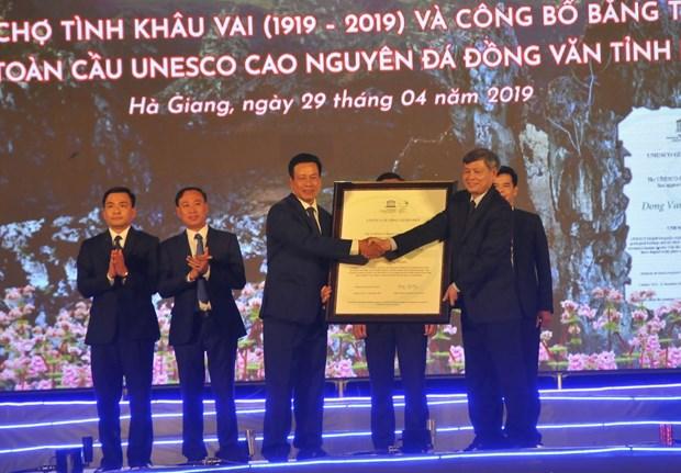 Deuxieme consecration mondiale du geoparc mondial de Dong Van hinh anh 1