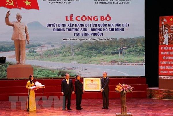 Le point final de la piste legendaire Ho Chi Minh reconnu comme vestige national special hinh anh 1