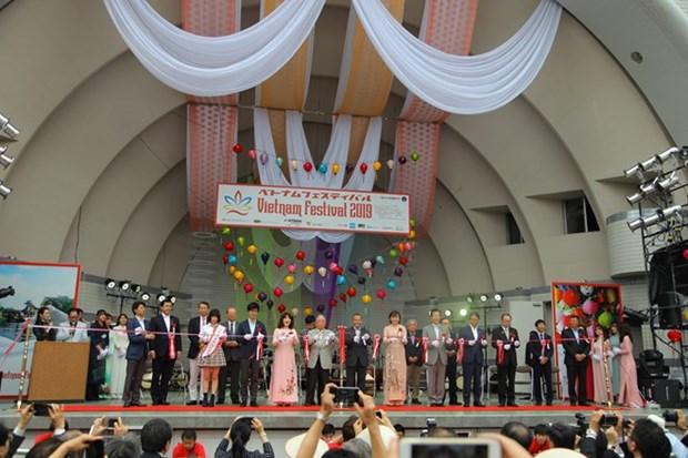 Le Festival du Vietnam haut en couleur au Japon hinh anh 1