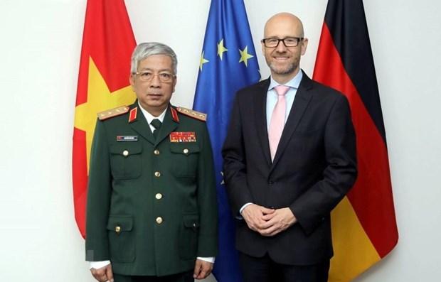Vietnam et Allemagne promeuvent la cooperation bilaterale dans la defense hinh anh 1