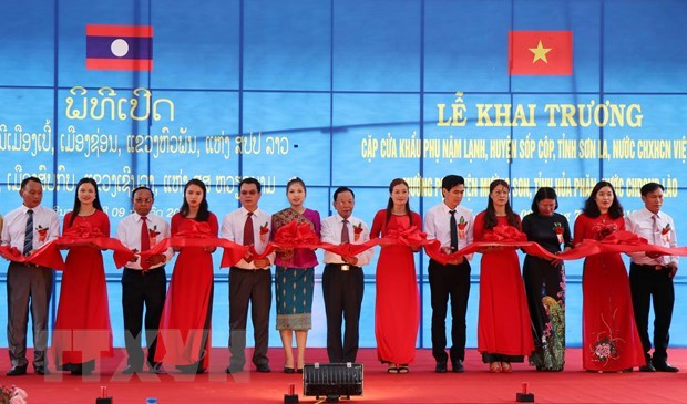 Ouverture de la paire de portes frontalieres internationales Nam Lanh – Muong Po hinh anh 1