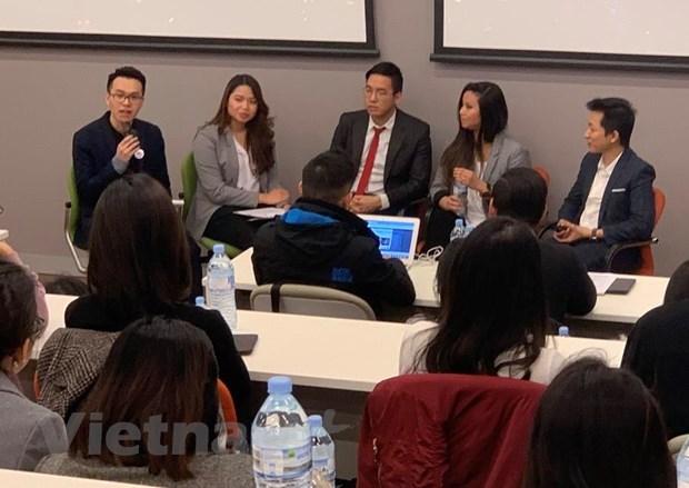 Les etudiants vietnamiens en Australie enthousiastes pour un concours de startup hinh anh 1