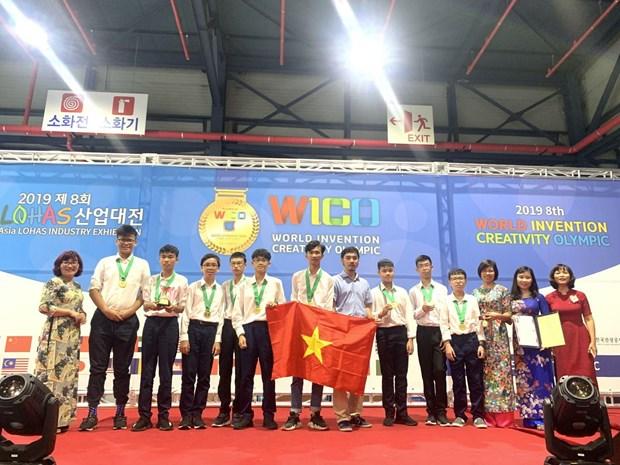 Des eleves vietnamiens remportent des medailles d'or aux WICO 2019 hinh anh 1