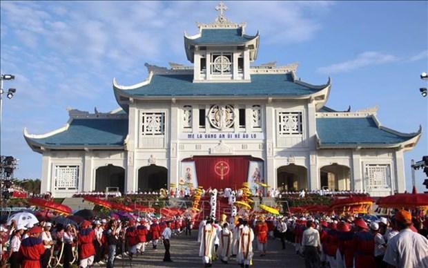 Environ 80.000 personnes participent au pelerinage de La Vang 2019 a Quang Tri hinh anh 1