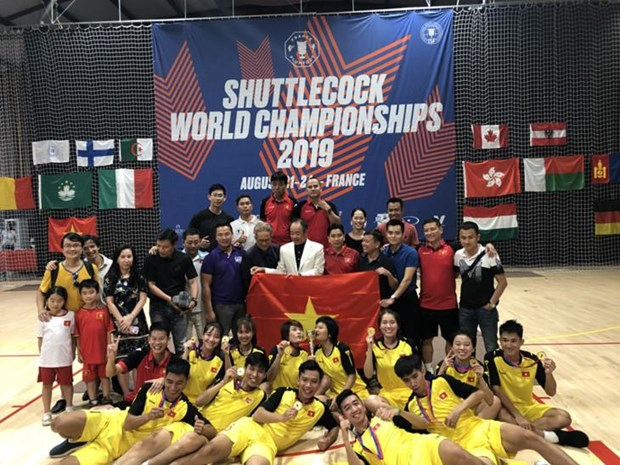 Le Vietnam, champion de la Coupe du monde de plumfoot 2019 hinh anh 1