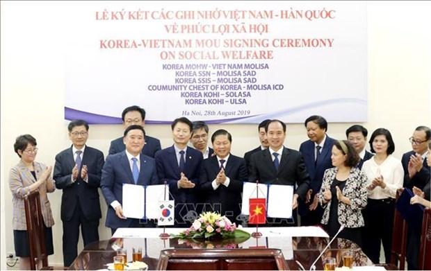 Le Vietnam et la Republique de Coree cooperent dans la securite sociale hinh anh 1