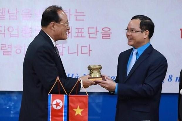 Les organisations syndicales du Vietnam et de la RPDC renforcent leur cooperation hinh anh 1