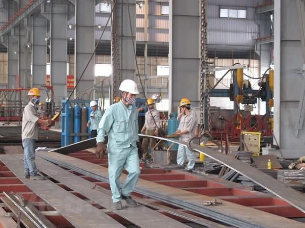 L'indice de la production industrielle en hausse de 9,5% en huit mois hinh anh 1