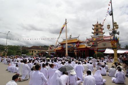 La fete Dieu Tri celebree au Saint-Siege du caodaisme a Tay Ninh hinh anh 1
