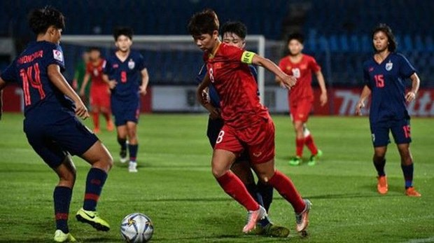 Championnat d'Asie de football feminin U19 : le Vietnam bat la Thailande hinh anh 1