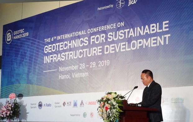 Conference internationale sur la geotechnique pour le developpement des infrastructures durables hinh anh 1