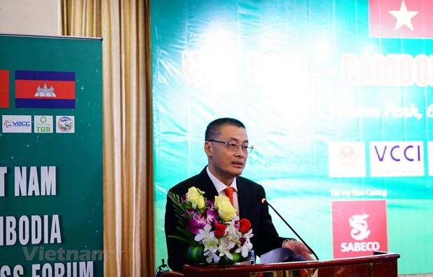 Le Forum de cooperation commerciale Vietnam - Cambodge a Phnom Penh hinh anh 1