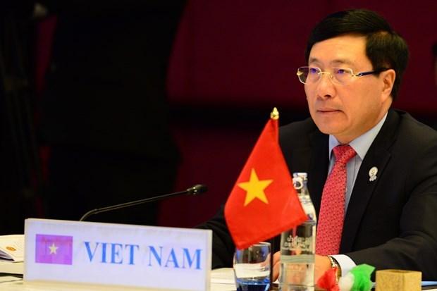 Le vice-PM et ministre des AE Pham Binh Minh participera a la reunion des ministres des AE de l'ASEM hinh anh 1