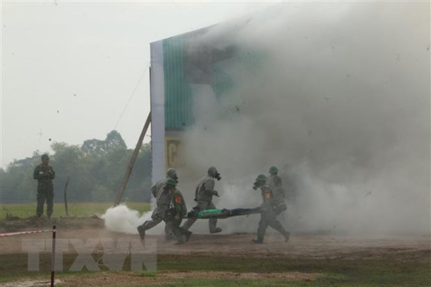 Exercice conjoint de recherche et de sauvetage entre le Vietnam et le Cambodge hinh anh 1