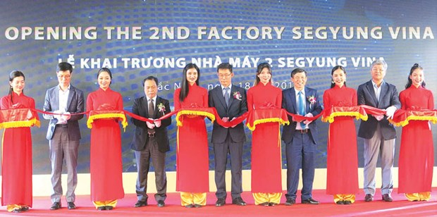 Inauguration de la deuxieme usine de la compagnie sud-coreenne Segyung Vina a Bac Ninh hinh anh 1