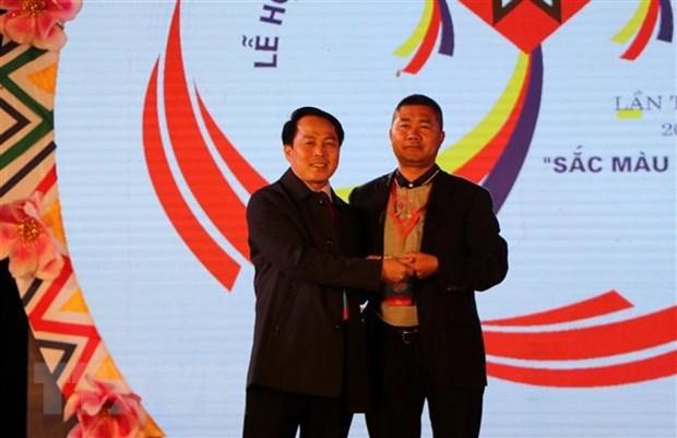 Cloture du 6e Festival de jeu de lancer de balles d'etoffe Vietnam-Laos-Chine hinh anh 2