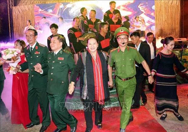 La presidente de l'Assemblee nationale participe a un programme printanier a Dak Lak hinh anh 1