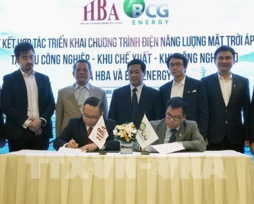 Plus d'un millier d'entreprises a HCM-Ville developperont l'energie solaire hinh anh 1