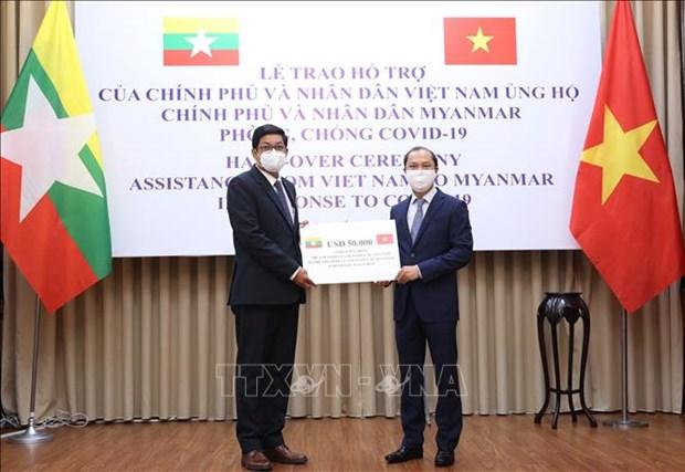 ASEAN 2020: le Vietnam offre une aide financiere au Myanmar pour lutter contre le COVID-19 hinh anh 1