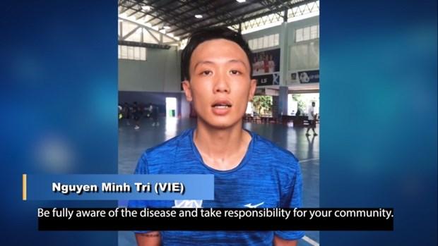 Le premier joueur vietnamien de futsal participe a la campagne contre le COVID-19 de l'AFC hinh anh 1