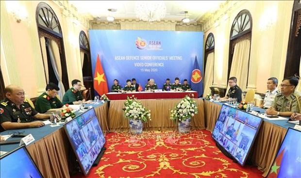 Ouverture de la teleconference des hauts officiels de la defense de l'ASEAN hinh anh 1