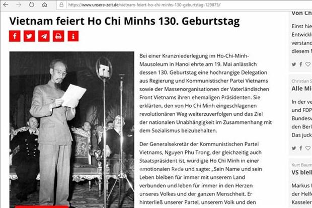 Activites en l'honneur du 130e anniversaire du President Ho Chi Minh a l'etranger hinh anh 2