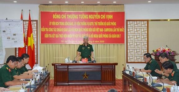 La preparation de l'echange de defense Vietnam-Cambodge va bon train hinh anh 1