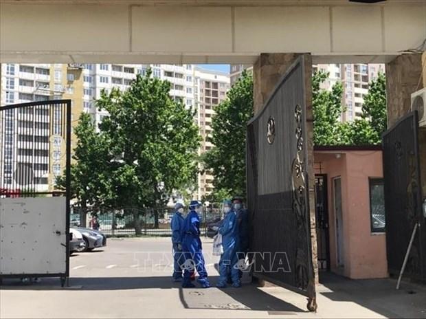 La communaute des Vietnamiens en Ukraine s'efforce de lutter contre l'epidemie de COVID-19 hinh anh 1