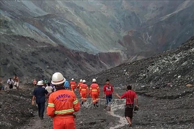 Le Vietnam envoie des sympathies au Myanmar suite a un glissement de terrain dans des mines de jade hinh anh 1