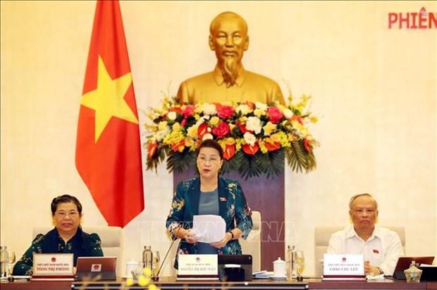Le Comite permanent de l'AN entame sa 46e session a Hanoi hinh anh 1