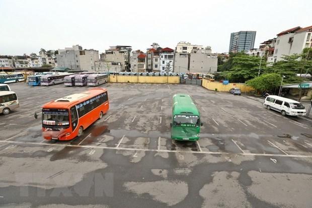 Hanoi suspend le transport et les voyages vers les zones epidemiques hinh anh 1